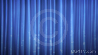 Animated Blue Curtain