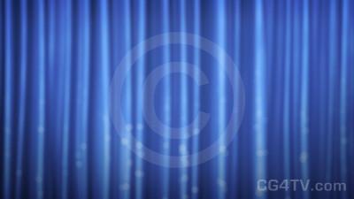 Animated Blue Curtain