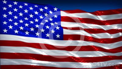Shining American Flag Animation