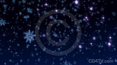 Glittering Snowflakes Animated Background