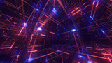 Crystal Lattice Animated Background