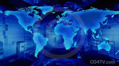 World Map Animated Background