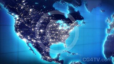 US Map Animated Background