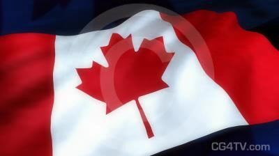 Canadian Flag Animated Background