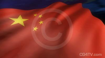 Chinese Flag Animated Background