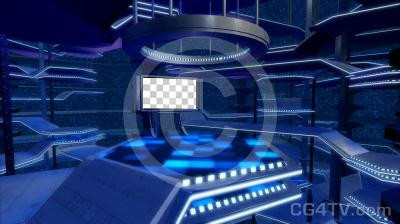 Entertainment  Animated Virtual Set -- Camera 4