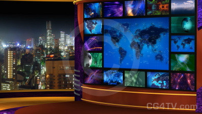 Multi Screen Animated News Set 5