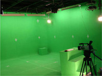 Green screen chromakey studio virtual sets