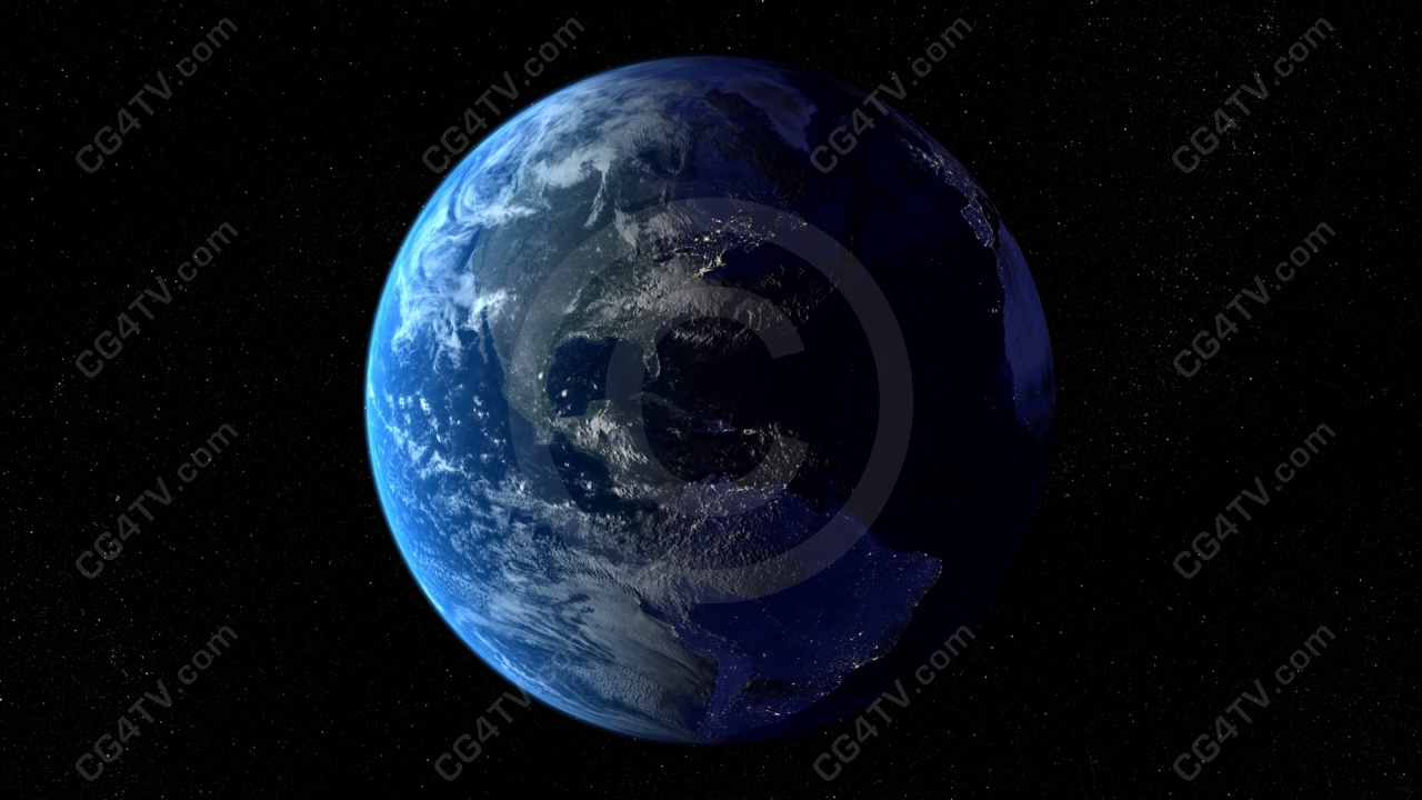full hd earth rotation animation