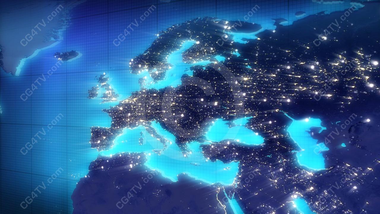 europe map animated background