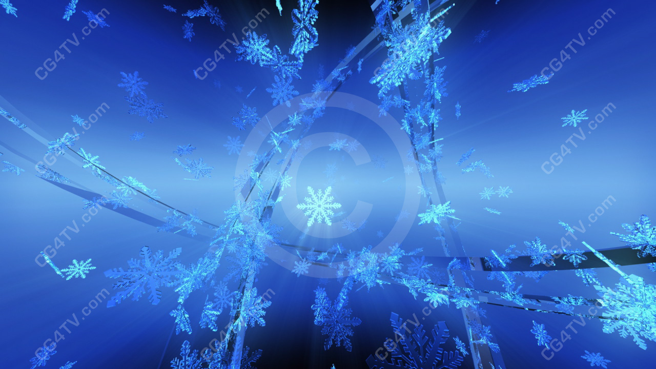 Animated Snow Background Royalty Free Motion Loop In High
