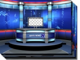 Sport News Studio Set Blue high resolution