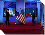 Presidential Virtual Election News Set high resolution