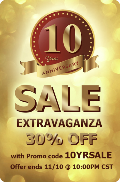 10th Years Sale
