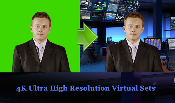 4K background virtual studio ultra high resolution