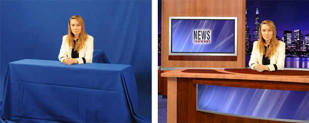 Chromakey for NEWS studio with Desk