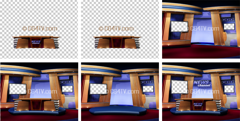 news studio background for chromakey projects