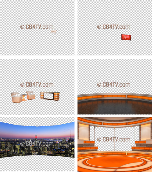orange virtual set