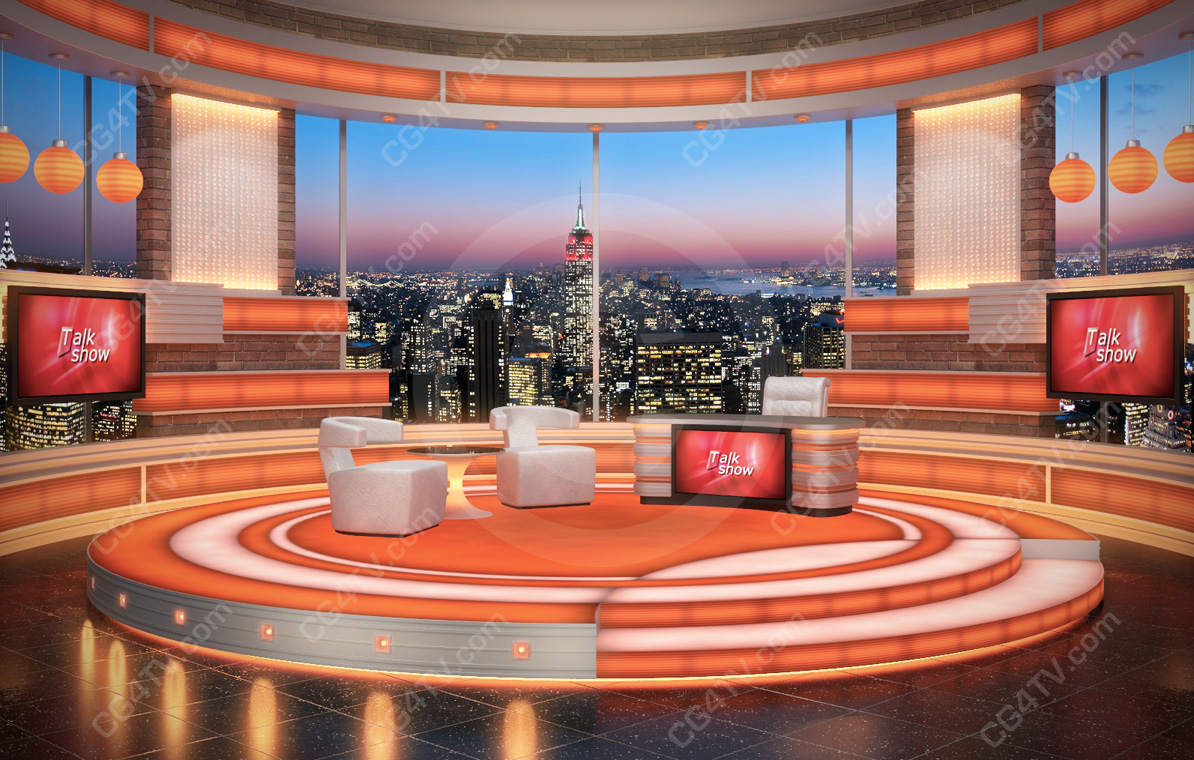 Talk show background for green screen chromakey for The design studio