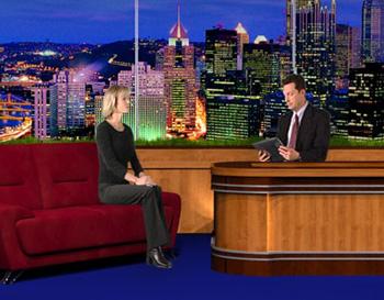 Talk Show Virtual Background Set
