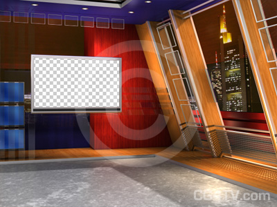 virtual news studio background preview